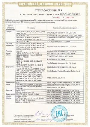 00141-19 приложение SIGLEN лифты TK СМП