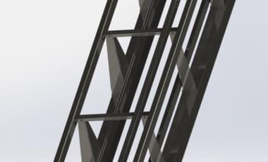 Рельсы и опоры наклонного лифта