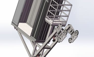 Сборка роликов наклонного лифта