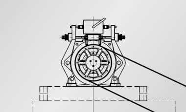 Тяговая машина наклонного лифта